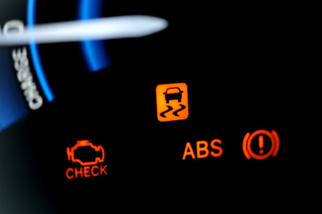 ABS light on your dashboard will light up if there is an issue