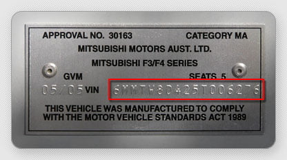The VIN is a 17-character sequence printed upon several locations on your vehicle.