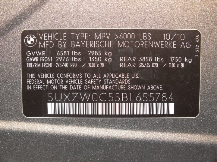 A VIN displays the car's unique features, specifications and manufacturer.