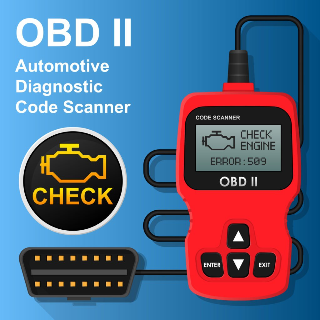 We use an OBD2 scanner to diagnose the P0021 Code.