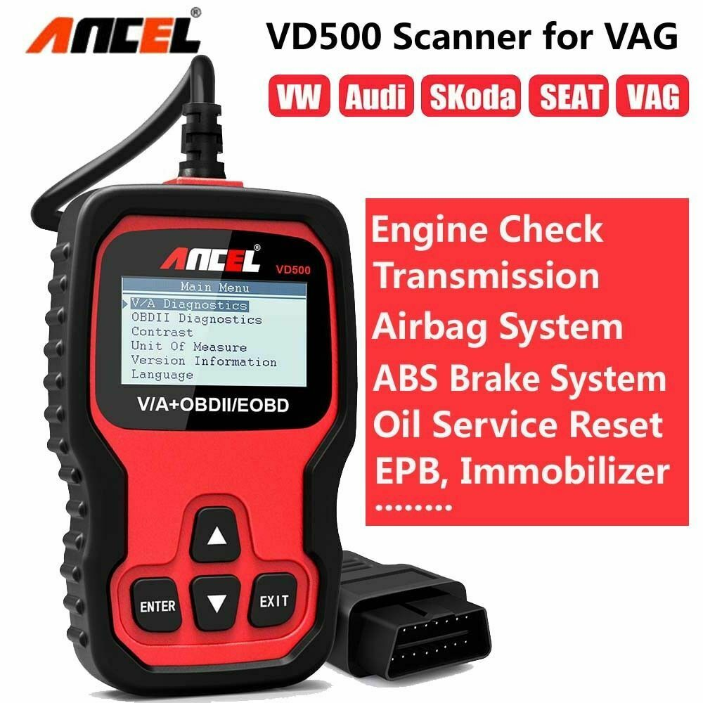 Ancel  VD500 offers a range of functions spanning full engine diagnostics.
