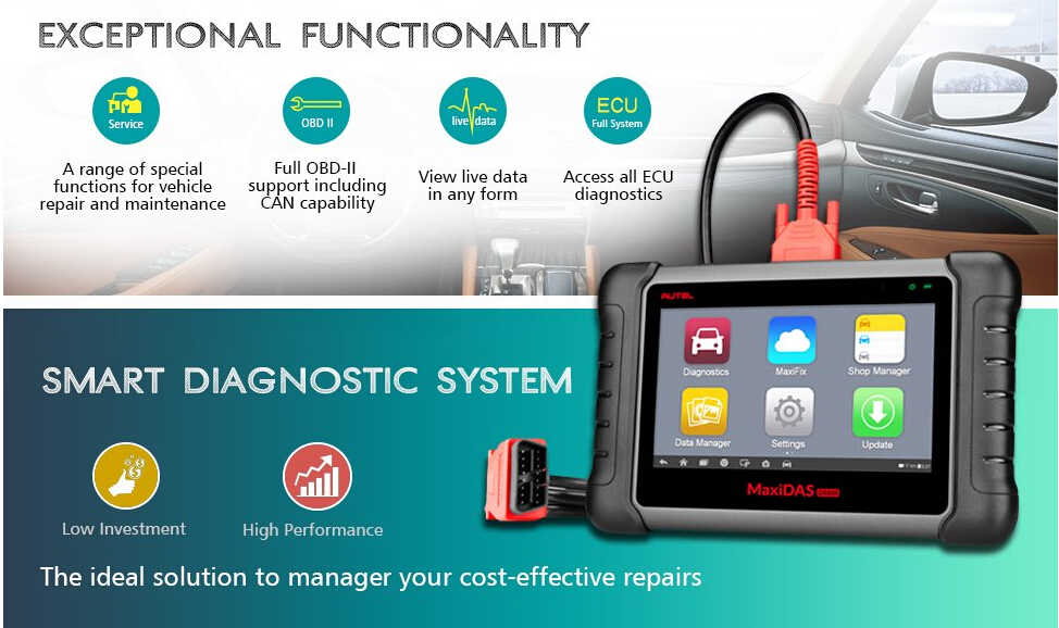 Autel DS808 offers exceptional functionality.