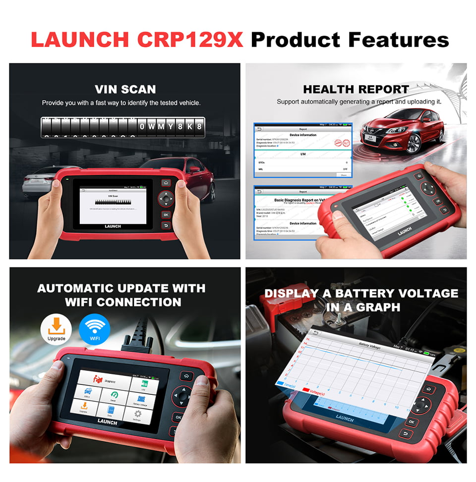 The CRP 129X can perform further features than CRP129 and  CRP129E.