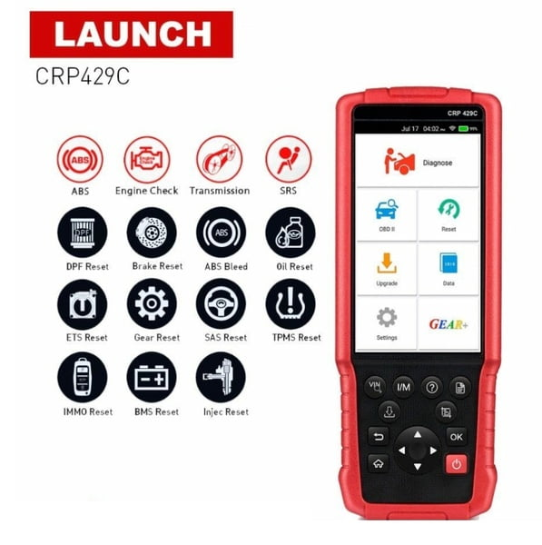 Launch CRP429C is a professional diagnostic tool with powerful functions.