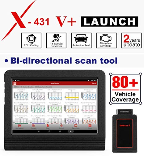 Launch X431 V+ can support over 80 vehicles.