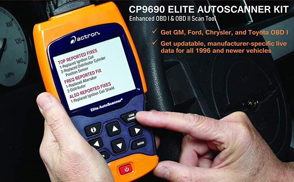 Actron CP9690 is an impressive scanner that offers enhanced features.