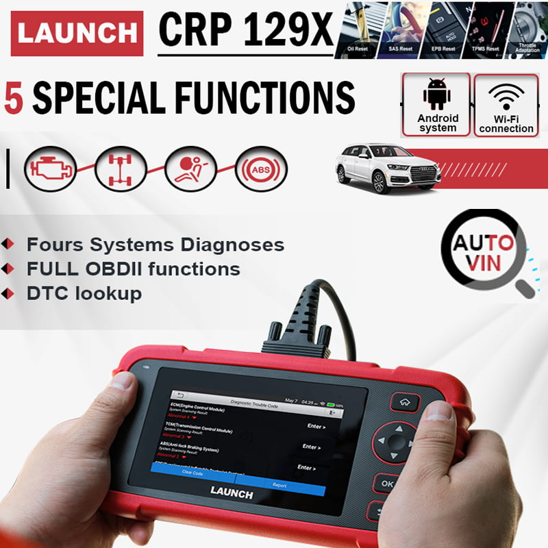 LAUNCH CRP129X has Smart AutoVIN technology for quick vehicle identification.
