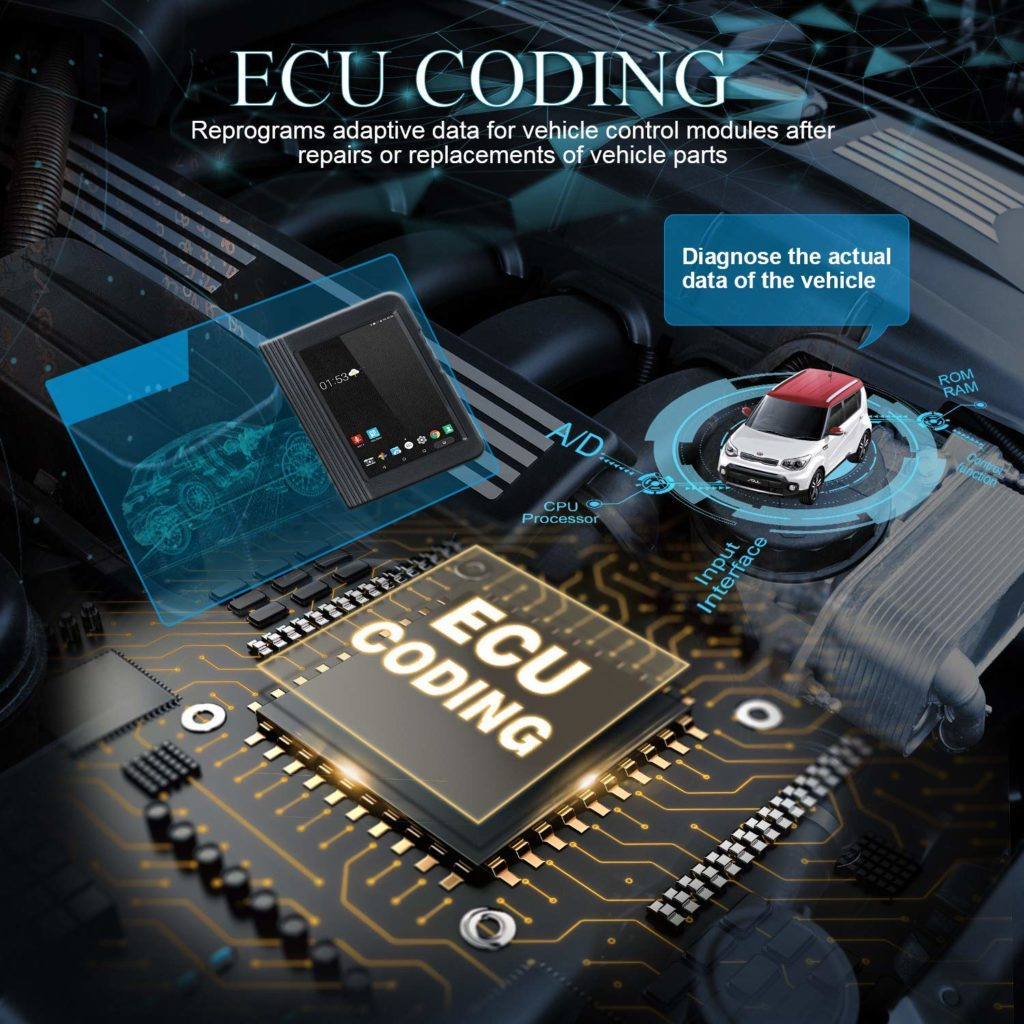 Launch X431 V pro can support ECU coding.