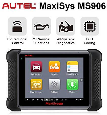 The Autel MS906 can support all - system diagnostics and program the ECU